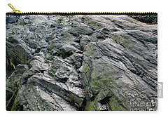 Large Rock At Central Park Carry-all Pouch by Sandy Moulder