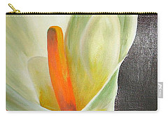 Large White Calla Carry-all Pouch
