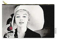 Large White Hat -marilyn Monroe  - Sketch Carry-all Pouch