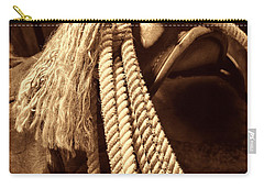 Lariat On A Saddle Carry-all Pouch by American West Legend By Olivier Le Queinec
