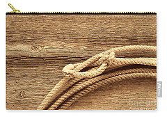 Lariat On Wood Carry-all Pouch