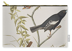 Lark Finch Prairie Finch Brown Song Sparrow Carry-all Pouch by John James Audubon
