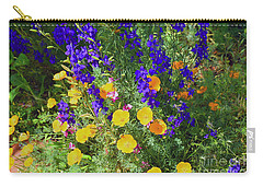 Larkspur And Primrose Garden Carry-all Pouch