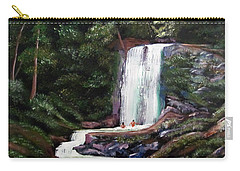 Las Marias Puerto Rico Waterfall Carry-all Pouch by Luis F Rodriguez