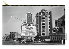 Carry-all Pouch featuring the photograph Las Vegas 1994 #1 Bw by Frank Romeo