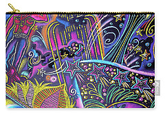 Carry-all Pouch featuring the painting Las Vegas by Leon Zernitsky