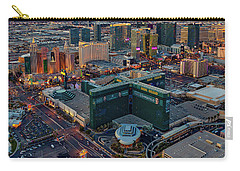 Carry-all Pouch featuring the photograph Las Vegas Nv Strip Aerial by Susan Candelario