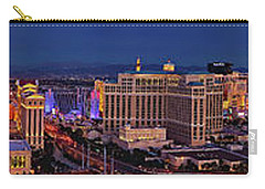 Carry-all Pouch featuring the photograph Las Vegas Panoramic Aerial View by Susan Candelario