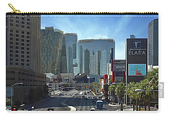 Carry-all Pouch featuring the photograph Las Vegas Skyline by John Kolenberg