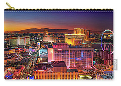 Carry-all Pouch featuring the photograph Las Vegas Strip North View After Sunset by Aloha Art