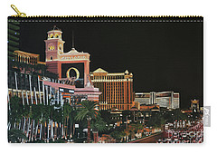 Las Vegas Strip Oil On Canvas Carry-all Pouch
