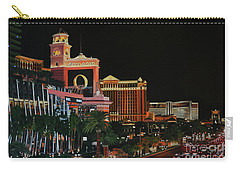 Las Vegas Strip Oil On Canvas Painting Carry-all Pouch