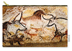 Lascaux Hall Of The Bulls - Deer And Aurochs Carry-all Pouch