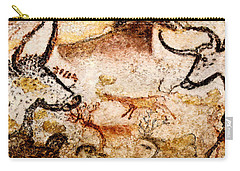 Lascaux Hall Of The Bulls - Deer Between Aurochs Carry-all Pouch