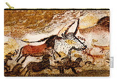 Lascaux Hall Of The Bulls - Horses And Aurochs Carry-all Pouch