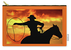 Lasso Sunset Cowboy Carry-all Pouch