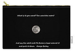 Carry-all Pouch featuring the photograph Lasso The Moon by Lisa Wooten