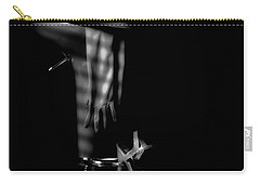 Last Call In Black And White Carry-all Pouch
