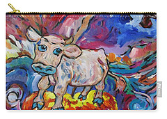Carry-all Pouch featuring the painting Last Cow Standing by Dianne  Connolly