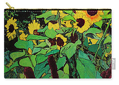 Carry-all Pouch featuring the painting Last Garden 3 by Ron Richard Baviello