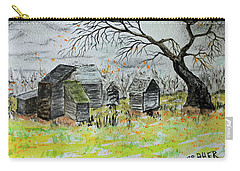 Carry-all Pouch featuring the painting Last Leaf Fall by Jack G Brauer