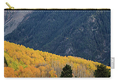 Carry-all Pouch featuring the photograph Last Light Of Autumn Vertical by David Chandler