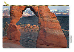 Last Light On Delicate Arch  Carry-all Pouch