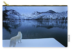 Last Light On Frozen Cascade Lake Carry-all Pouch by Sean Sarsfield