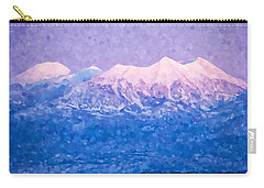 Last Light On Mount Peale From Buck Canyon Overlook Carry-all Pouch