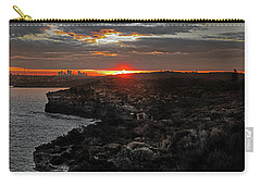 Carry-all Pouch featuring the photograph Last Light Over North Head Sydney by Miroslava Jurcik