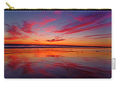 Last Light Topsail Beach Carry-all Pouch by Betsy Knapp
