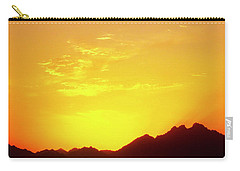 Last Moments Sunset In Africa Carry-all Pouch