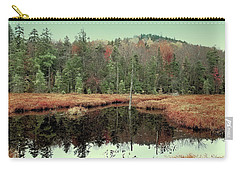 Carry-all Pouch featuring the photograph Last Of Autumn On Fly Pond by David Patterson