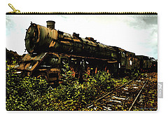 Carry-all Pouch featuring the painting Last Of The 309  Steam Train  by Iconic Images Art Gallery David Pucciarelli