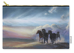 Last Run Of The Day Carry-all Pouch by Karen Kennedy Chatham