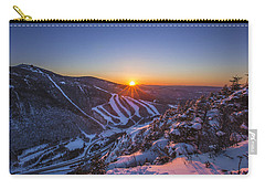 Last Winter Sunset Over Cannon Mountain Carry-all Pouch