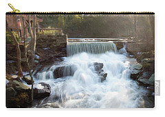 Carry-all Pouch featuring the photograph Late Afternoon At The Duck Pond by Sue Collura