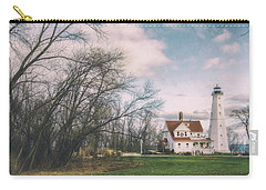 Late Afternoon At The Lighthouse Carry-all Pouch by Scott Norris