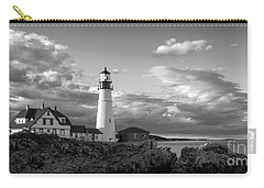 Carry-all Pouch featuring the photograph Late Afternoon Clouds, Portland Head Light  -98461 by John Bald