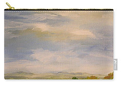 Carry-all Pouch featuring the painting  Late Afternoon In Vermont  by Laurie Rohner