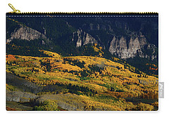Late Afternoon Light On Aspen Groves At Silver Jack Colorado Carry-all Pouch