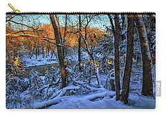 Late Afternoon Winter Light Carry-all Pouch by Bruce Morrison