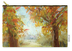 Late Fall Colors - Autumn Landscape Carry-all Pouch by Barry Jones