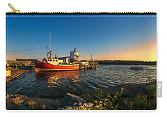 Late In The Day At Fisherman's Cove  Carry-all Pouch by Ken Morris