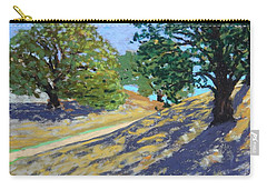 Carry-all Pouch featuring the painting Late Light's Shadows by Gary Coleman