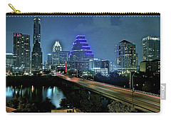 Late Night Above Austin Carry-all Pouch by Frozen in Time Fine Art Photography