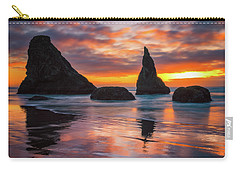 Carry-all Pouch featuring the photograph Late Night Cloud Dance by Darren White