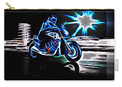 Late Night Street Racing Carry-all Pouch by Maciek Froncisz
