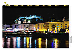 Carry-all Pouch featuring the photograph Late Night Stroll In Salzburg by David Morefield