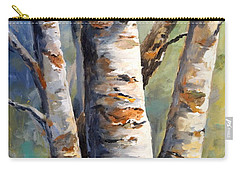 Carry-all Pouch featuring the painting Late November by Alan Lakin